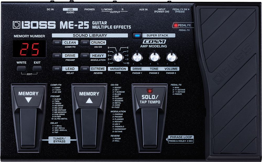 картинка Boss ME-25 Guitar Multuple Effects от магазина Multimusic