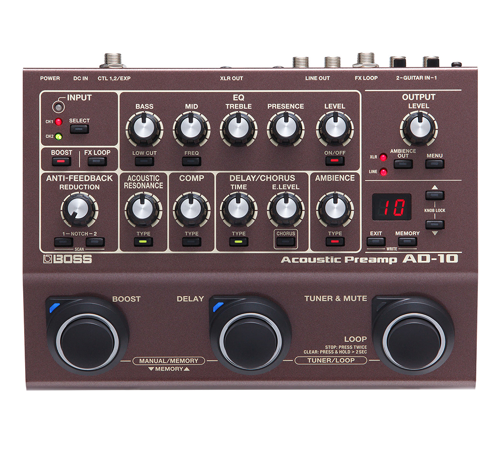 картинка Boss AD-10 Acoustic Preamp от магазина Multimusic